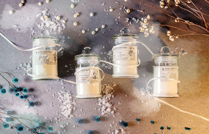 賽先生科學工廠|氣味標本香氛蠟燭-藍鈴香