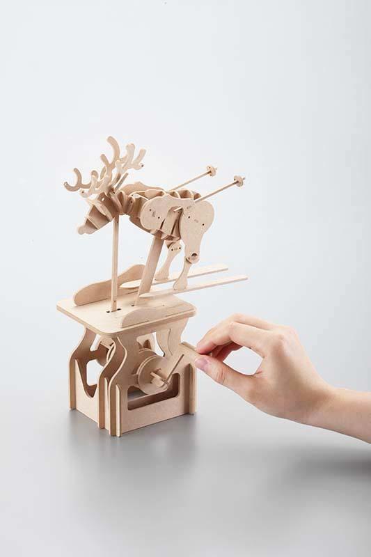 賽先生科學工廠|異想模界-木作模型 滑雪麋鹿