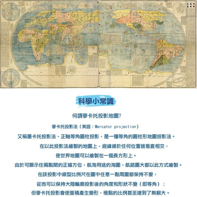 賽先生科學工廠|科學浴簾-手稿地圖浴簾