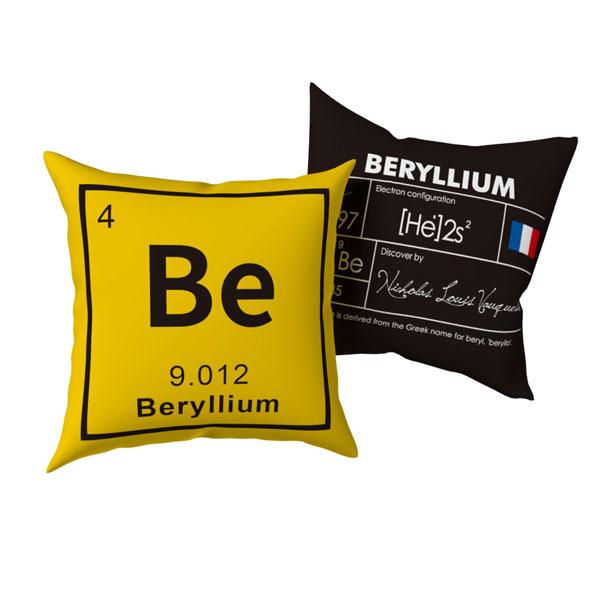 賽先生科學工廠|BeEr 化學元素雙面抱枕 (1組兩個)