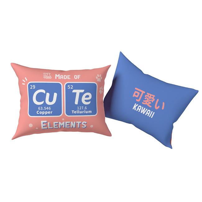賽先生科學工廠 趣味化學元素雙面抱枕 ( 可愛 Cu Te )