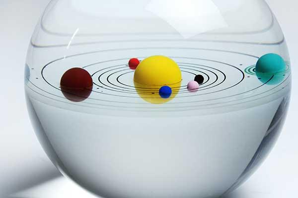 賽先生科學工廠|立體太陽系水晶紙鎮禮盒