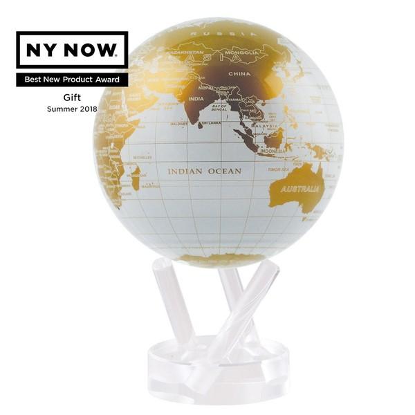 賽先生科學工廠|MOVA光能地球儀-白金(小/4.5吋)