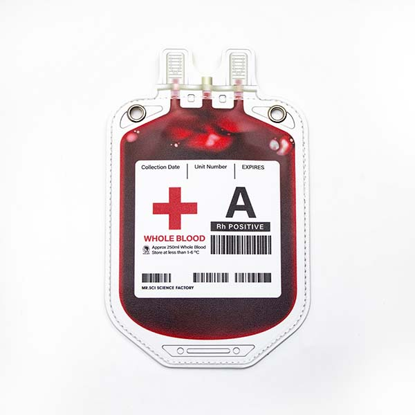 賽先生科學工廠|血袋造型斜背小包 - 4款血型
