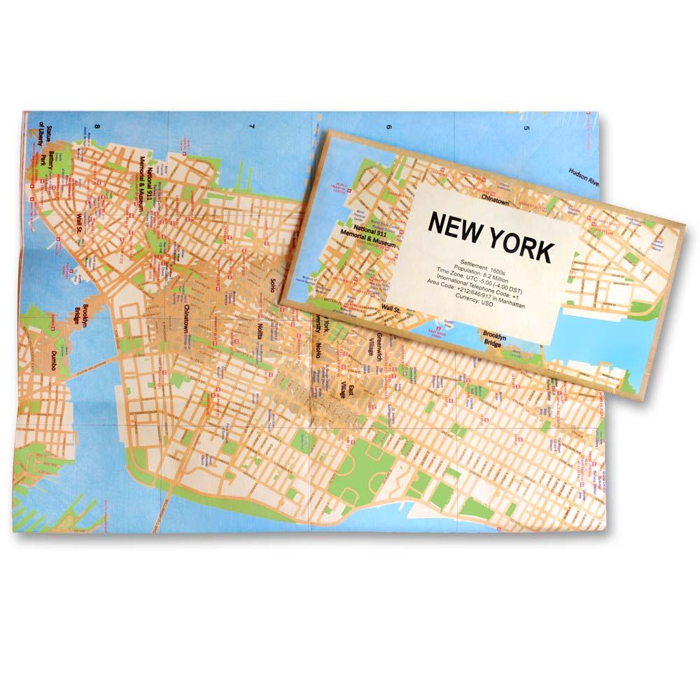 賽先生科學工廠 撕不破耐皺防水地圖 - 紐約