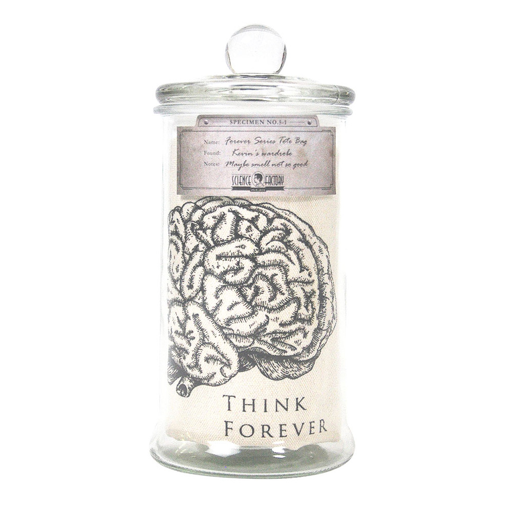 賽先生科學工廠|Forever標本二用布包-Think Forever 大腦