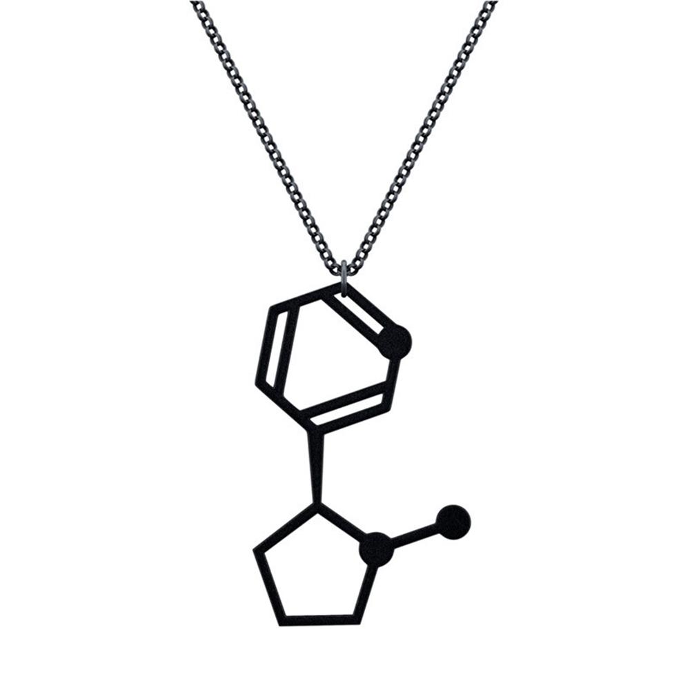 賽先生科學工廠 尼古丁 墜入愛河的分子項鍊 - 磨砂黑
