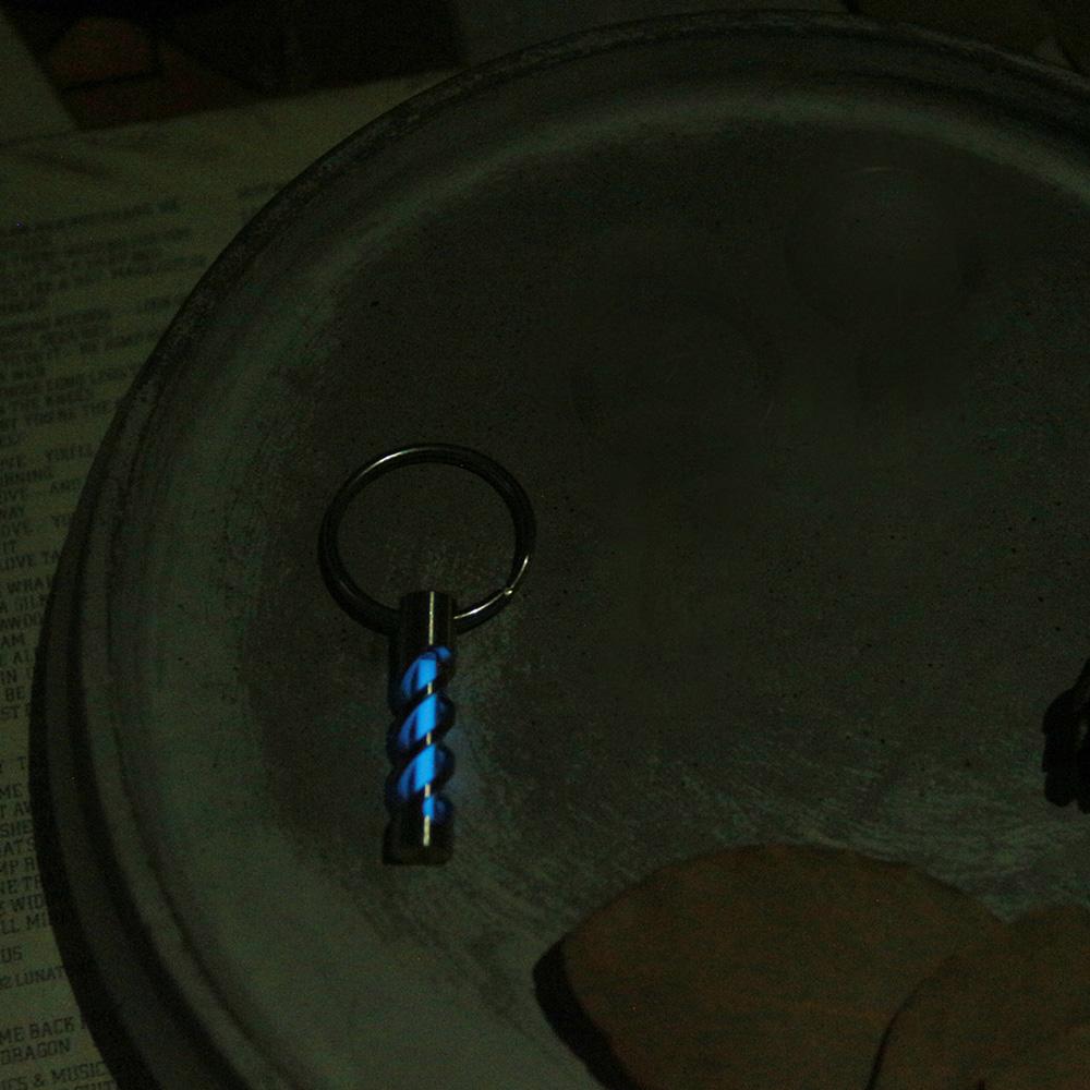 賽先生科學工廠 自體發光氚管鑰匙圈 - 冰藍