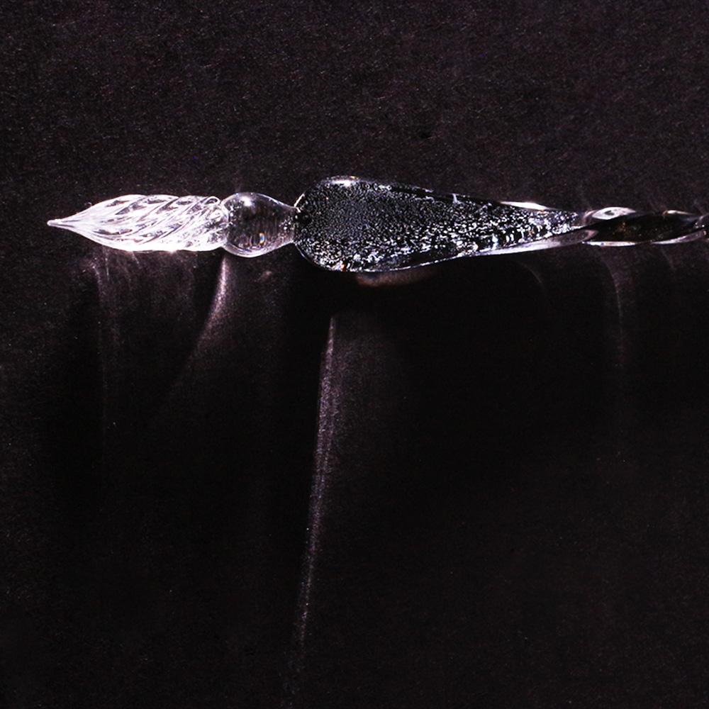 賽先生科學工廠|銀河玻璃沾水筆(極光灰)