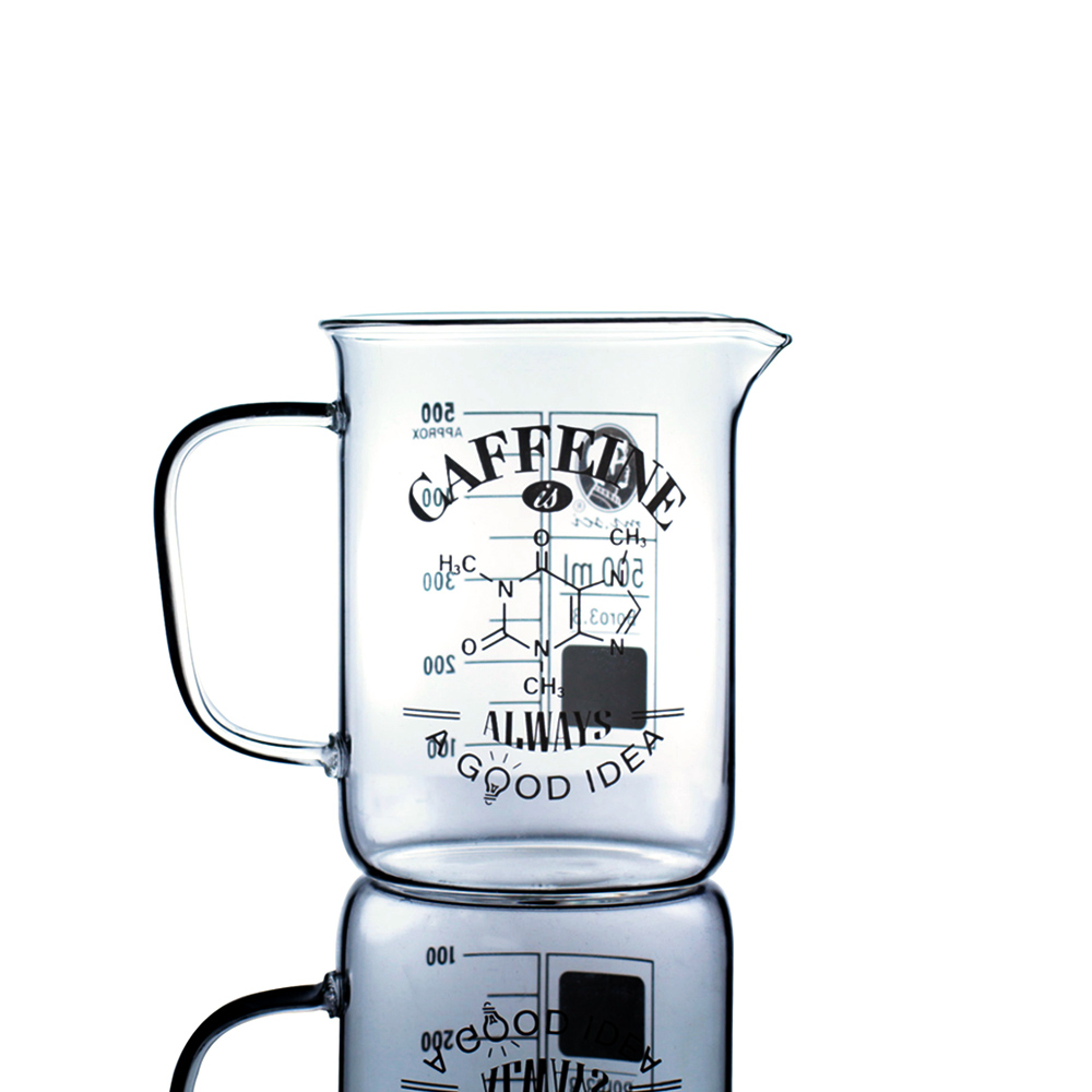 賽先生科學工廠 咖啡因理科燒杯(附軟木杯蓋)
