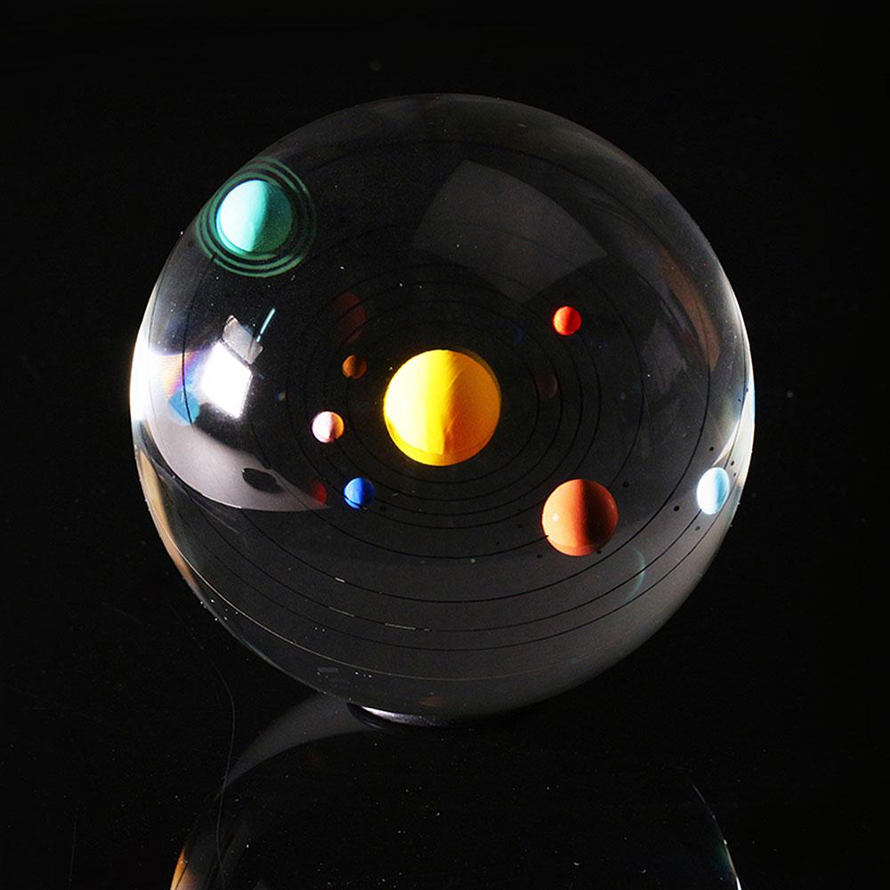賽先生科學工廠|立體太陽系水晶紙鎮