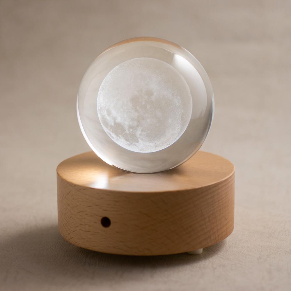 賽先生科學工廠 透視月球水晶組(含發光底座)