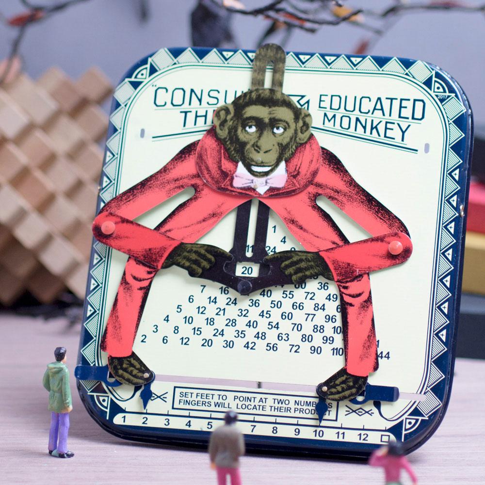 賽先生科學工廠 | 鐵皮玩具-乘法猴(古董復刻版)
