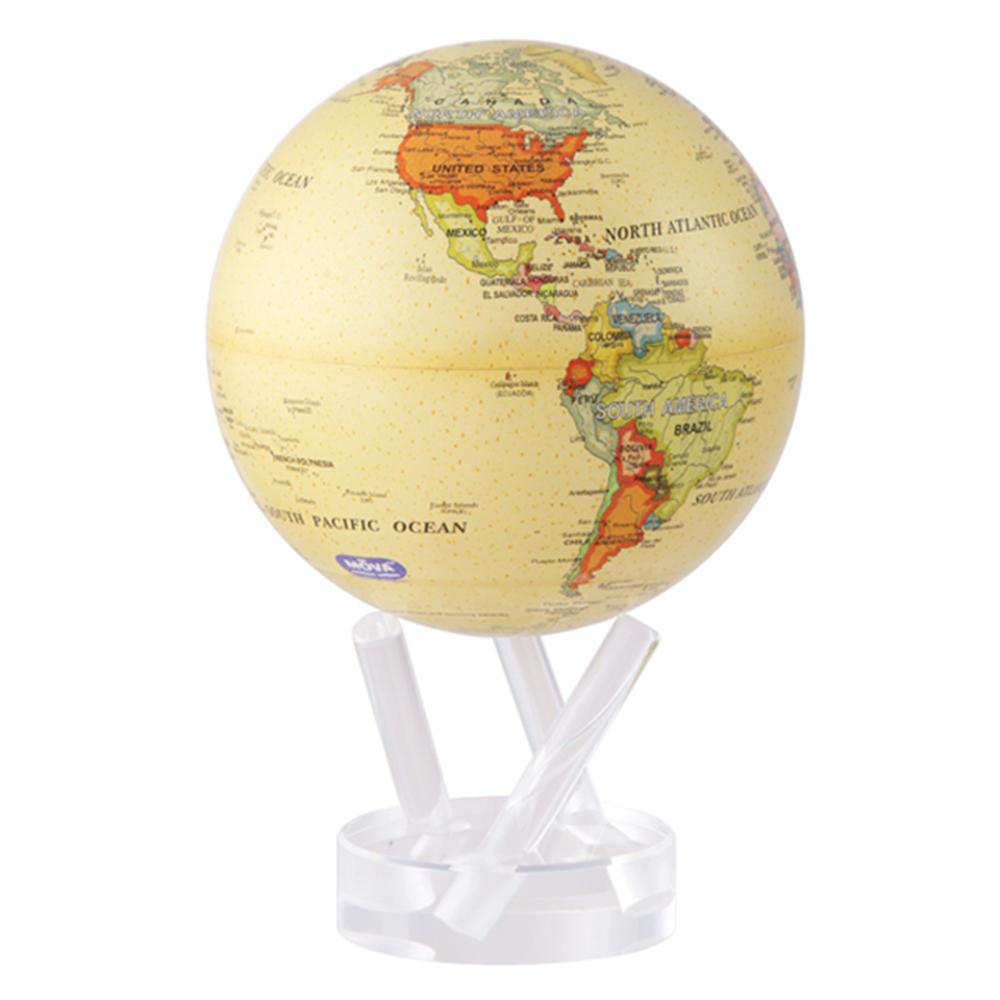 賽先生科學工廠 | MOVA光能地球儀-米色(大/6吋)