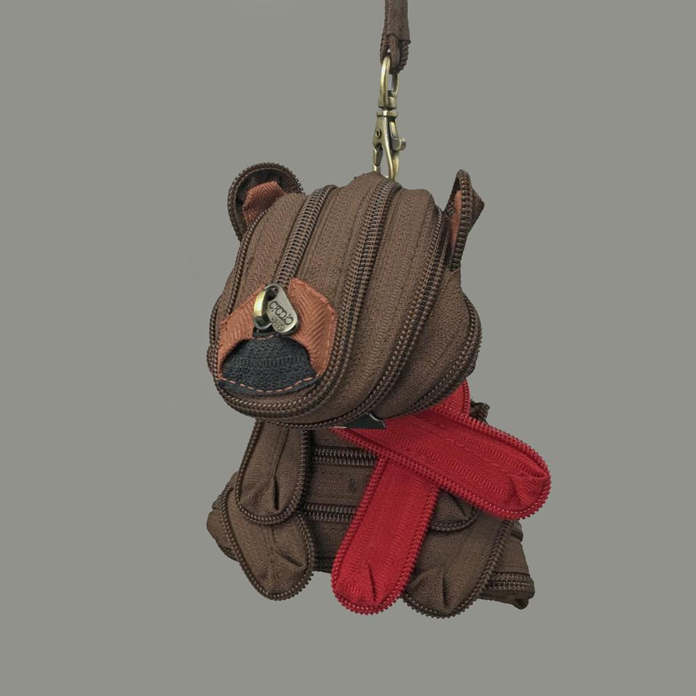 賽先生科學工廠|圍巾熊(棕) 拉鍊包