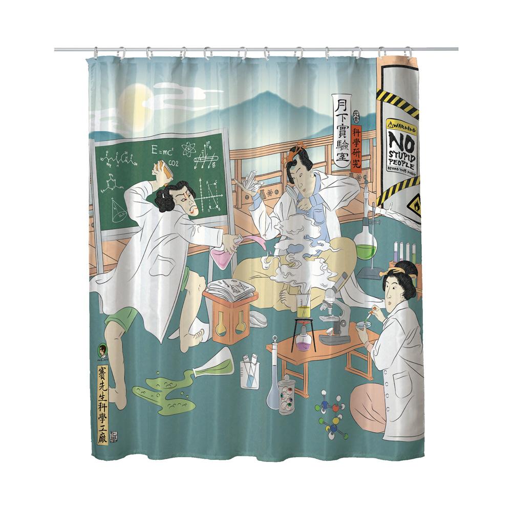 賽先生科學工廠|科學浴簾-月下實驗室
