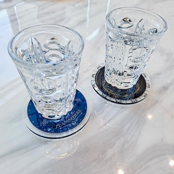 賽先生科學工廠|星座盤雙層杯墊組/一套2片