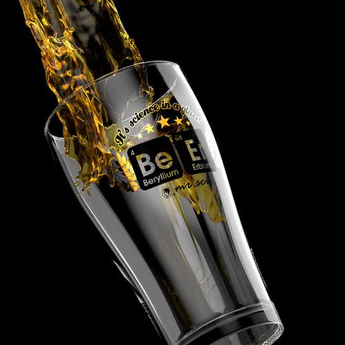 賽先生科學工廠|BeEr 化學元素啤酒杯 620ml