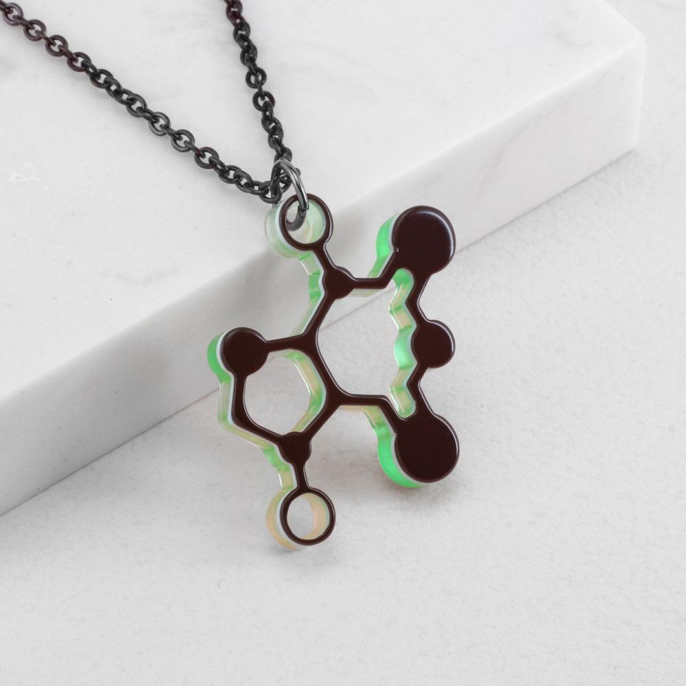 賽先生科學工廠|New Sexy 分子項鍊-可可鹼 (5色)