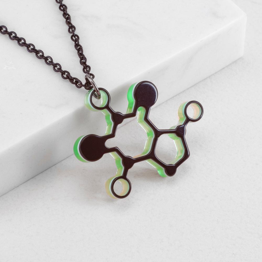 賽先生科學工廠|New Sexy 分子項鍊-咖啡因 (5色)