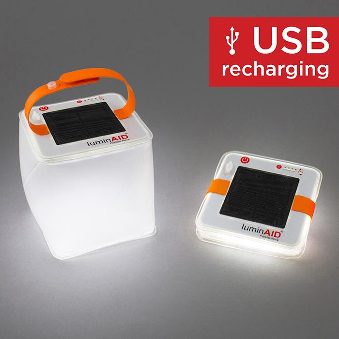 LuminAID|PackLite Nova USB可充式水陸兩用太陽能光援燈籠