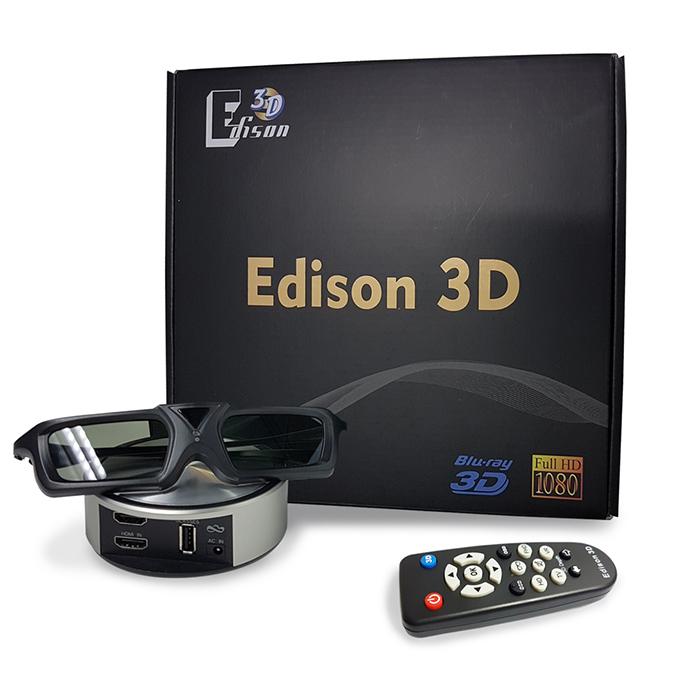 Edison 3D| 3D 轉換器 + 3D 眼鏡  送 水動能光觸媒過濾淨水壺
