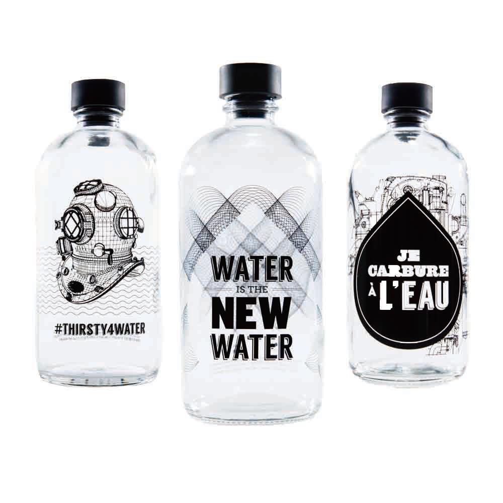 Aquaovo|LAB [O] 水系列玻璃水瓶-三入(隨機出貨)