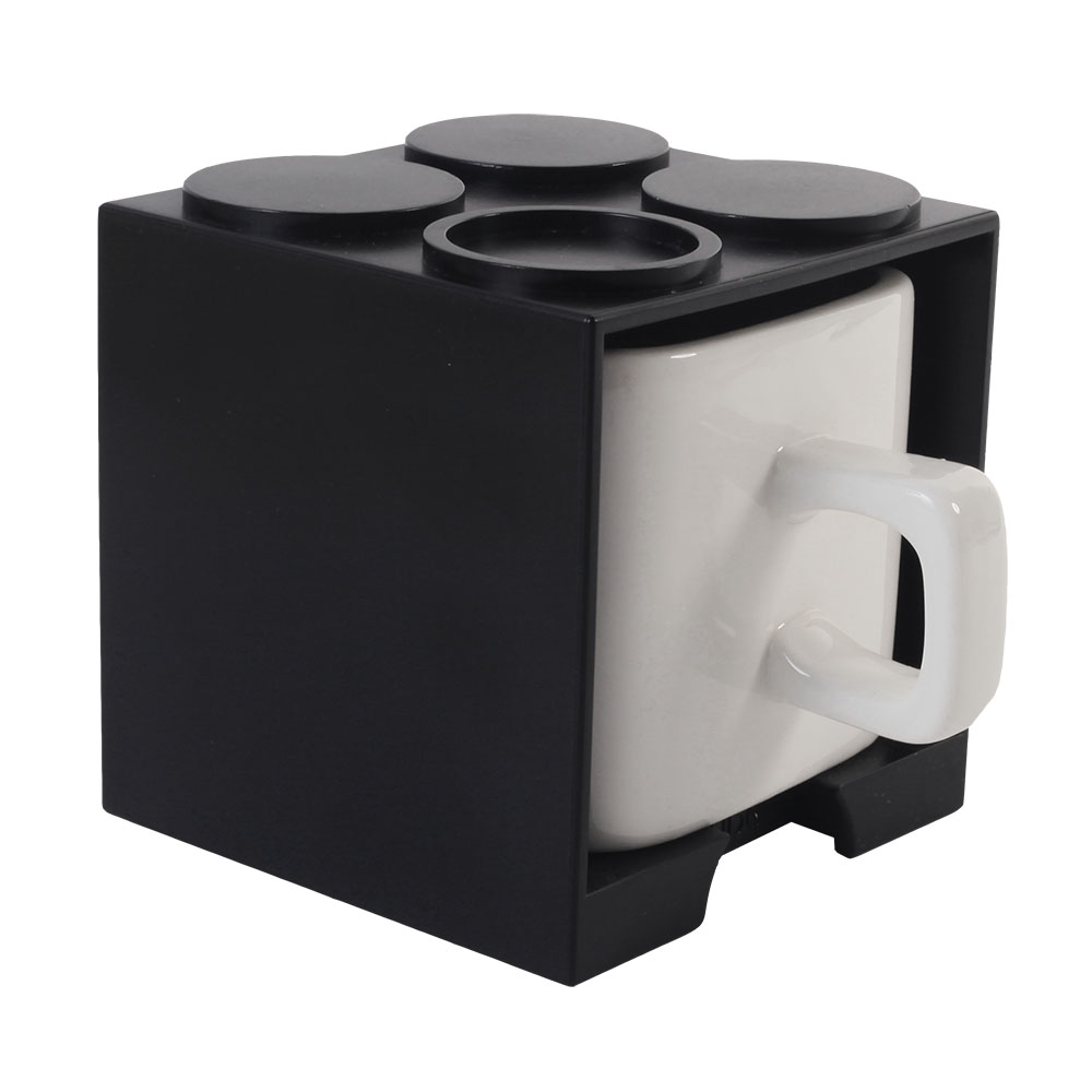 Gattola|可愛上班休閒時尚 馬克杯 大 - 黑色