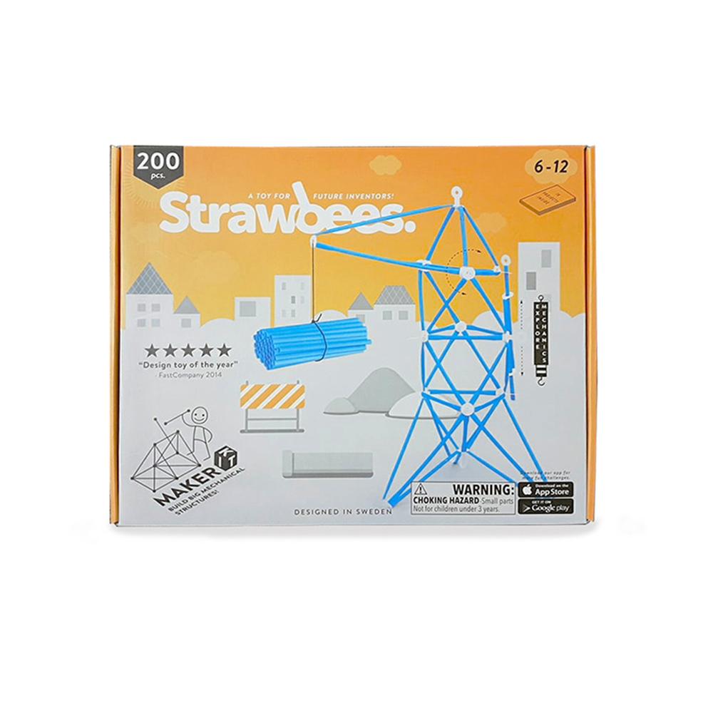 Strawbees|多樣巧拼創意吸管 - 自造家組合