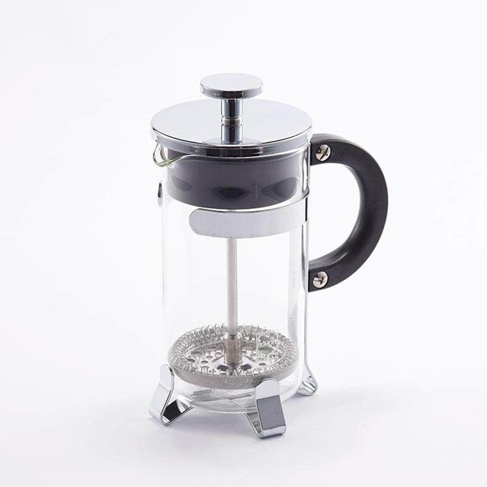 T&U CREATIVE 耐熱派熱克斯玻璃不鏽鋼法式濾壓沖泡壺 800ML