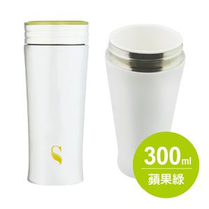 IKUK|真空雙層內陶瓷保溫杯300ml- 蘋果綠