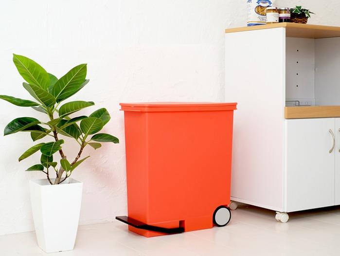 Like-it |直立式分類垃圾桶 33L - 橘紅色