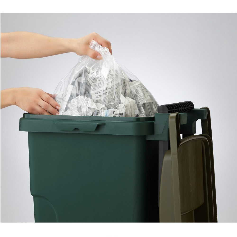 eco container style|機能型拉桿垃圾桶 45L-深綠色