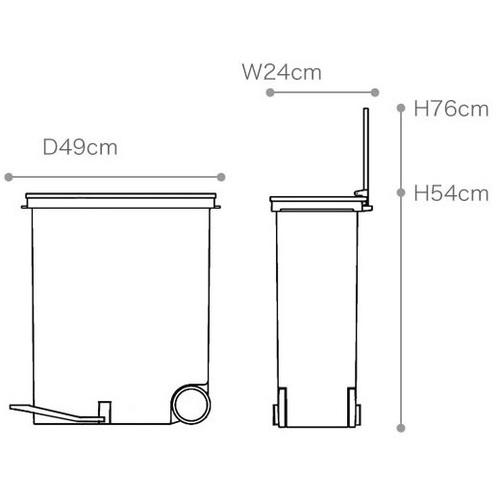 LIKE IT |直立式分類垃圾桶 33L - 共三色