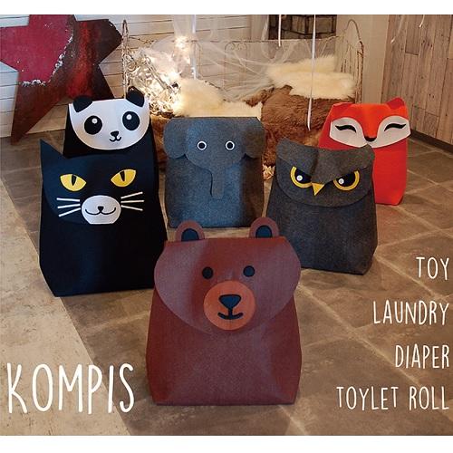 KOMPIS|北歐風可愛動物收納箱-熊貓