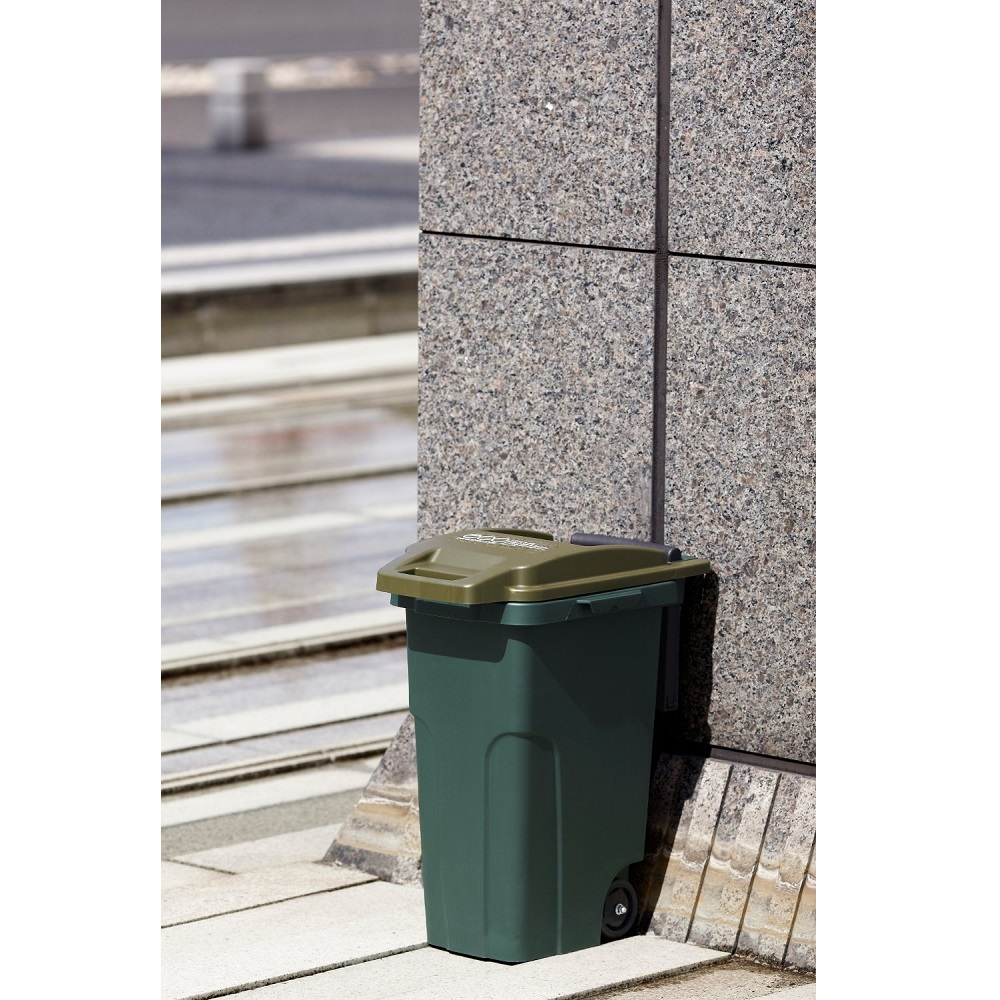 eco container style|機能型拉桿垃圾桶 45L-海軍藍