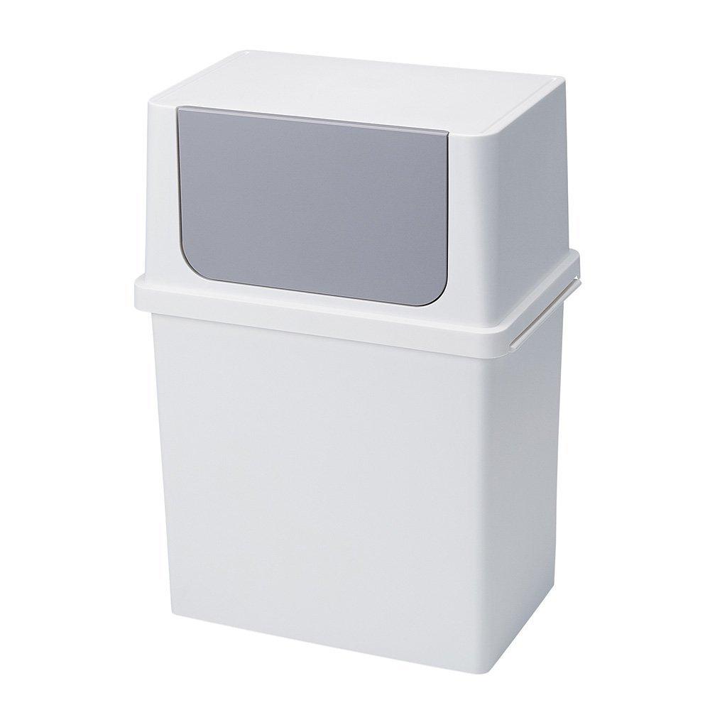 diese-diese |Seals 寬型前開式垃圾桶17L - 純白色