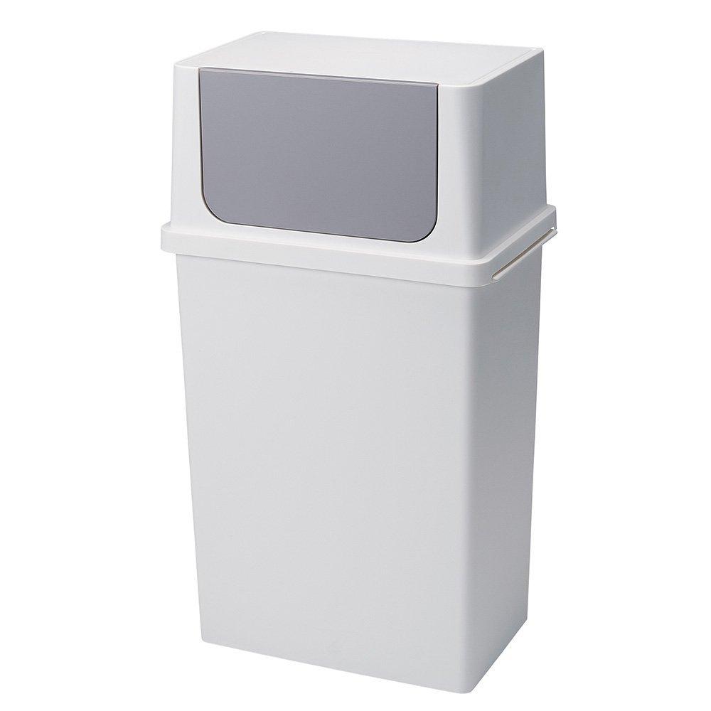 diese-diese |Seals 寬型前開式垃圾桶25L - 純白色