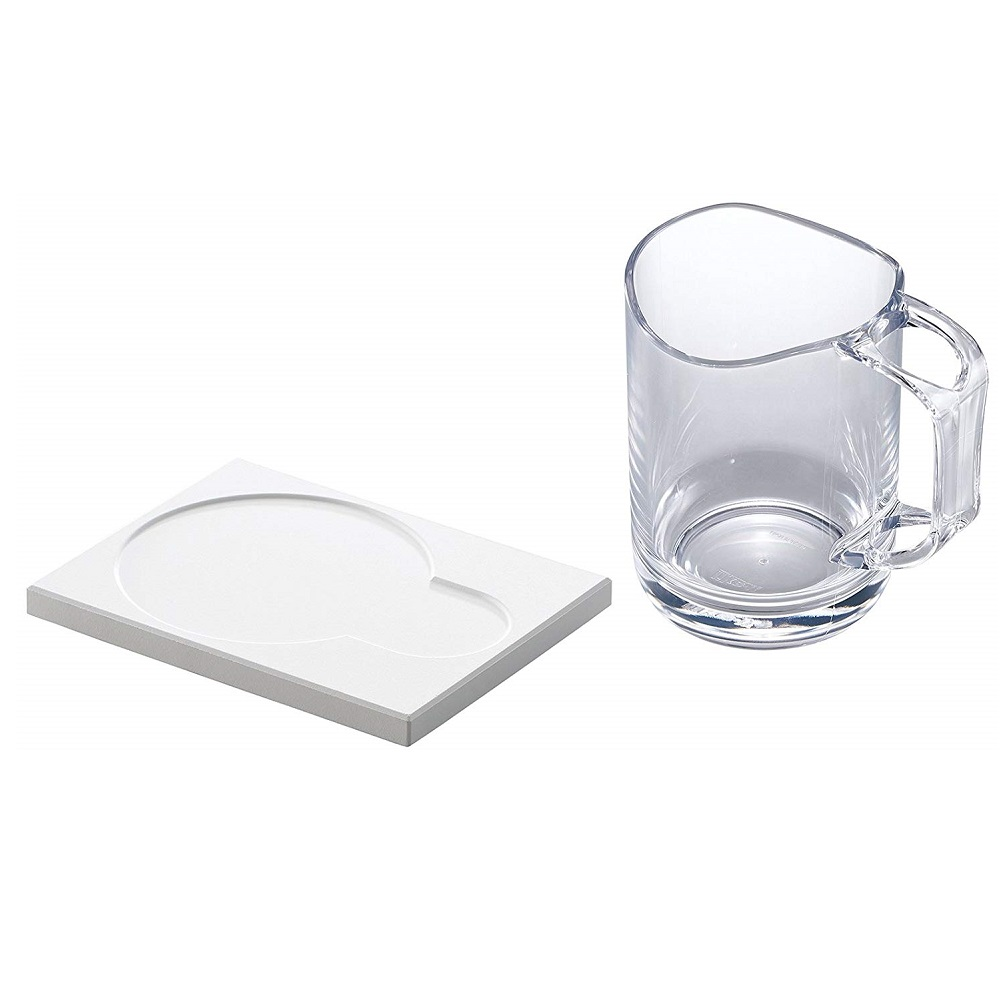 diese-diese LIKE IT  可瀝水漱口杯及吸水珪藻土杯墊組