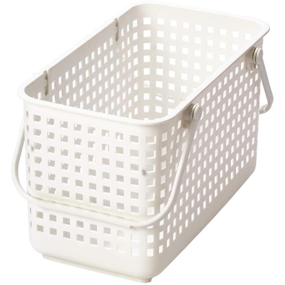 日本Like-it|[窄款]隙縫型多功能可堆疊收納籃 洗衣籃 M(單個)