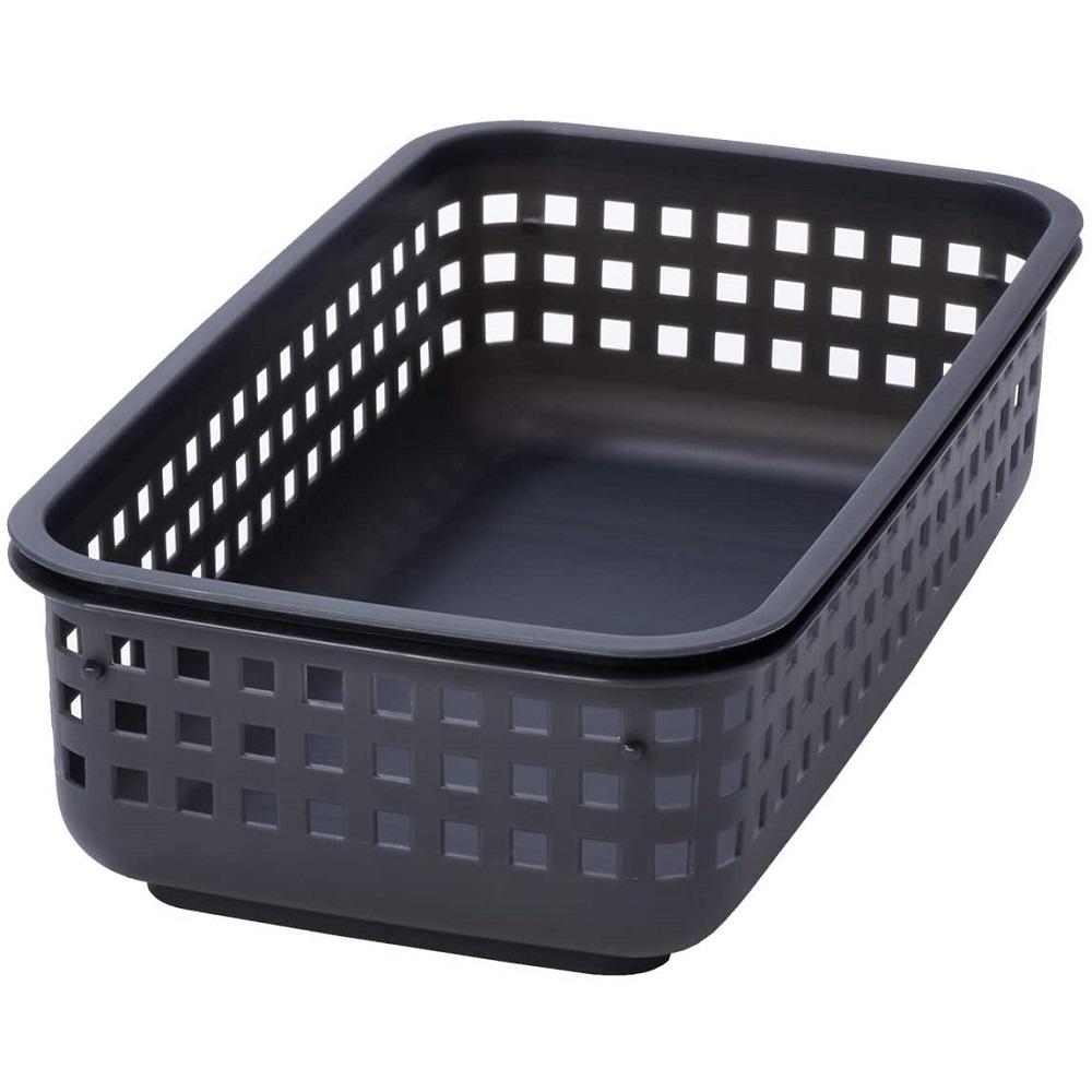 日本Like-it|[窄款]隙縫型多功能可堆疊收納籃 洗衣籃 S(單個)