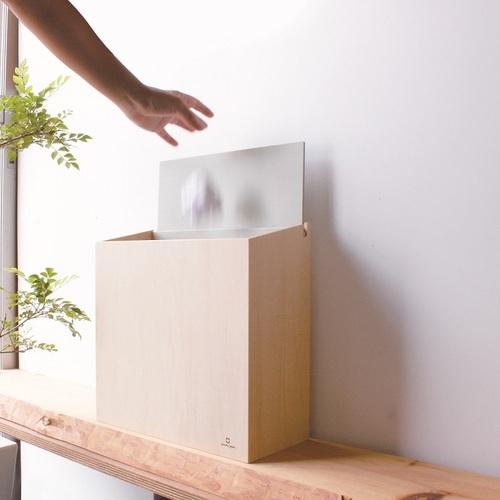 yamato japan|純手工木製SLIM DUST 掀蓋式小容量垃圾桶 8L