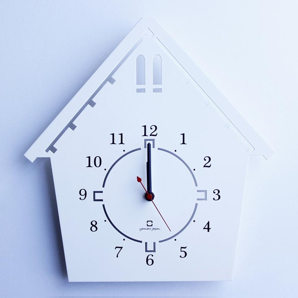 yamato japan 純手工木製童話房子樣式壁掛時鐘