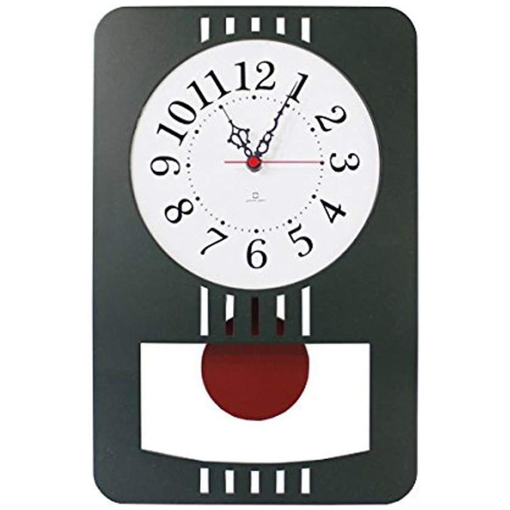 日本 yamato japan Retro modern純手工木製復古摩登擺動時鐘