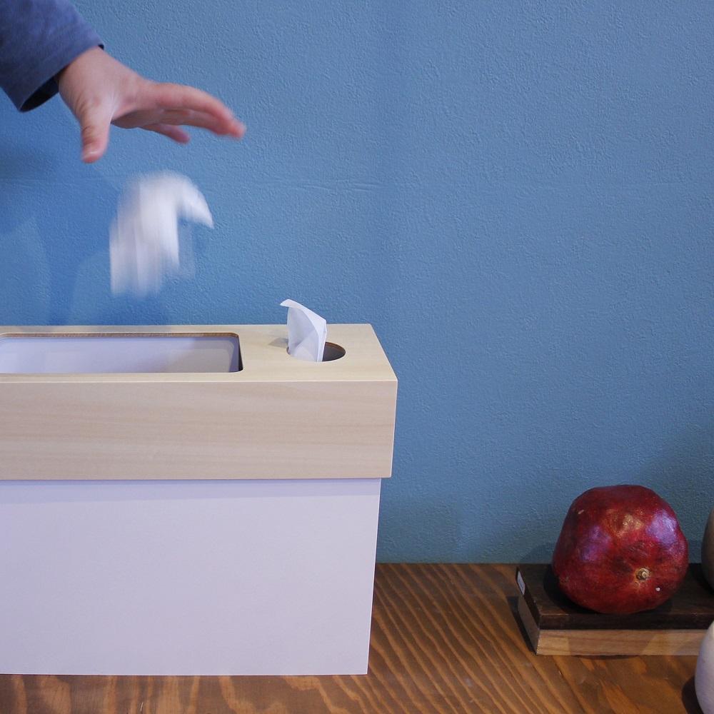 yamato japan|純手工木製多功能面紙盒式小型垃圾桶(矮)