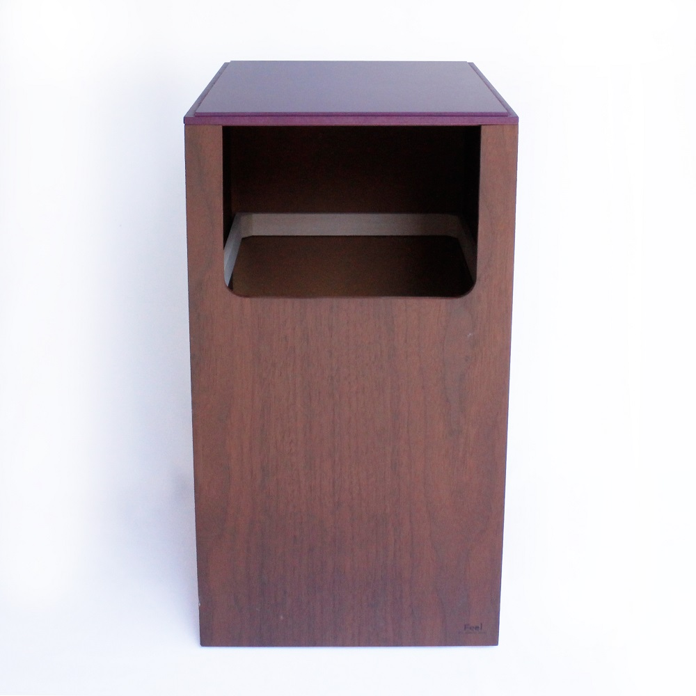 yamato japan 純手工木製大開口前開可堆疊垃圾桶 14L