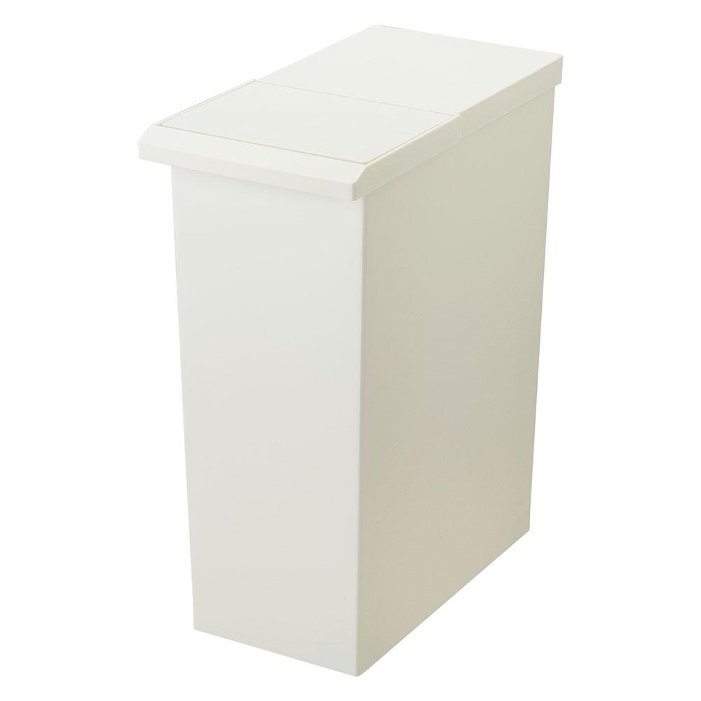 日本Risu|TOSTE簡約設計風格按壓雙開型分類垃圾桶 30L