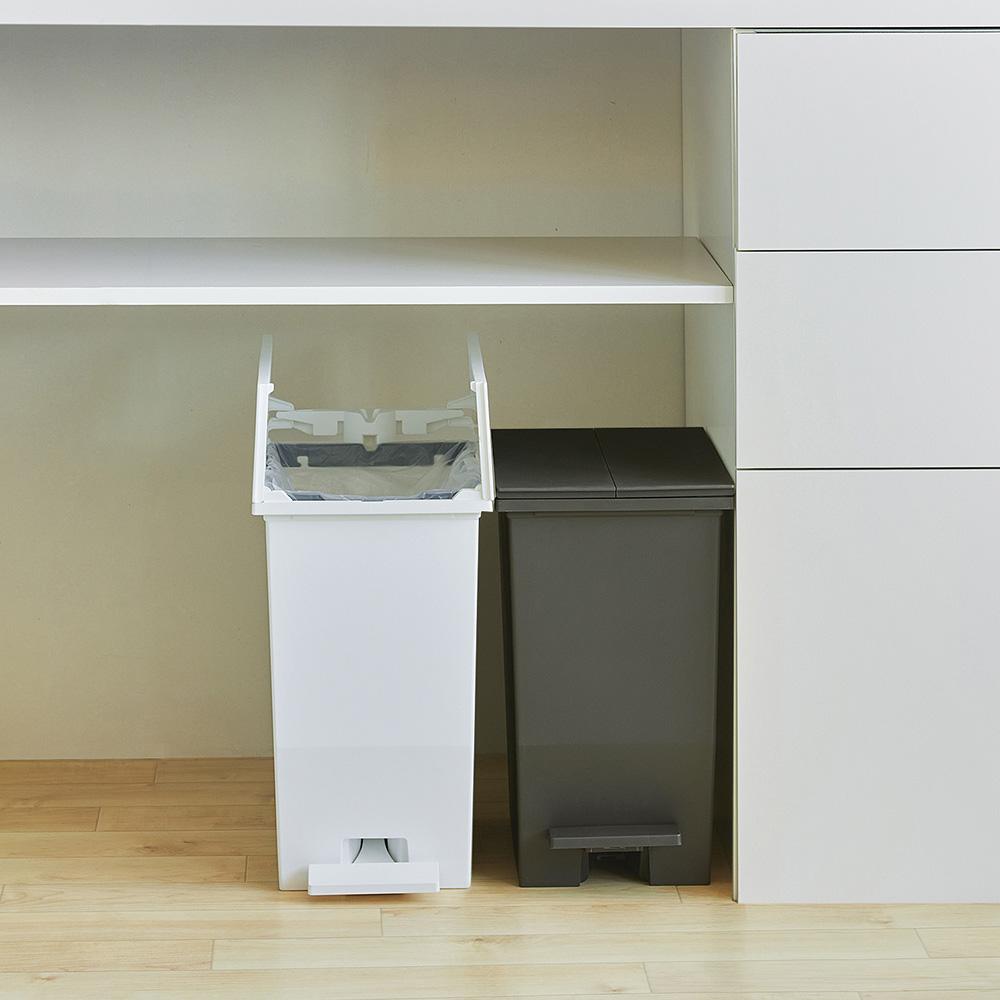 RISU H&H踩踏對開分類垃圾桶 20L