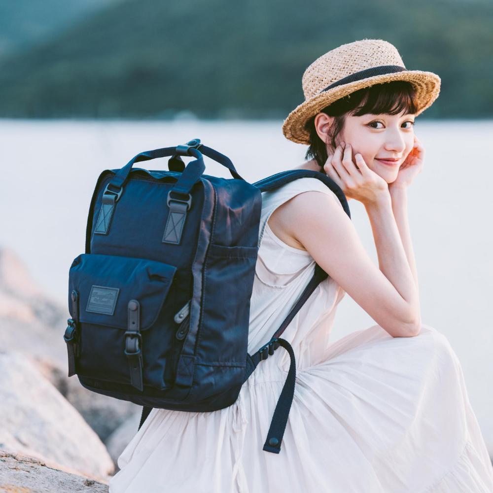 IBAOBAO愛包包|Doughnut 防潑水馬卡龍後背包-復刻黑