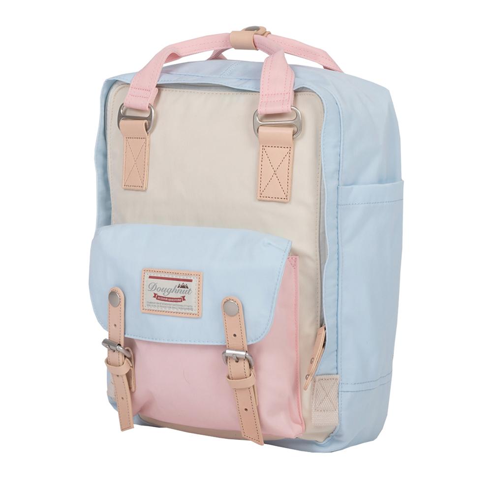 IBAOBAO愛包包|Doughnut 防潑水馬卡龍後背包-雪藍櫻花